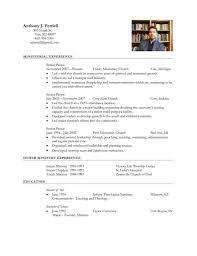 Pastoral Resume Template Sample Resume Cover Letter Format. 7 ...