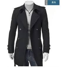 whole grey badges pea coats for men trench coat slim double ted wool coat outerwear peacoat sobretudo masculino overcoat xl pea coat men pea