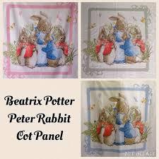 Peter Rabbit Beatrix Potter Cot Quilt Fabric Panel, 46