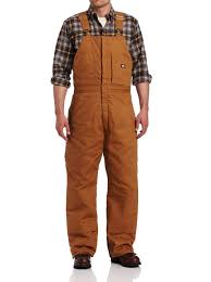 Details About Dickies Men Brown Size 3xl Insulated Duck Bib Double Knee Overall Pants 138 270