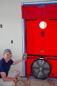 Rochester Passive House: Blower Door / Window Door Tests