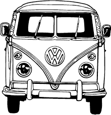 Free Coloring Pages Of Vw Camper Van Vw Busjes Pinterest Combi