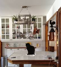 Hanging Pan Racks For Kitchen Clever Kitchen Ideas Industrial Pot Rack Hgtv Kitchen Island Pot