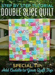 Double Slice Quilt – Tutorial Reboot Featuring Guest Blogger ... & This Double Slice quilt is such a fun, easy way to make a scrappy quilt Adamdwight.com