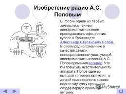 Презентация на тему Изобретение радио Александром Степановичем  4 Изобретение