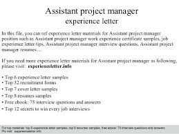 Construction Assistant Project Manager Resume Project Assistant Manager Assistant Project Manager Job