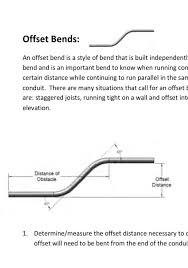 Conduit Bend Multipliers Electrical Conduit Offset Great Installation Of Wiring Diagram