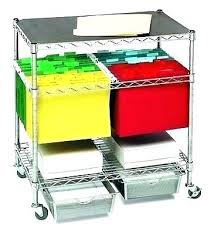 rolling office cart. Rolling Office Cart Cabinet Organizer Max File Mobile Storage O