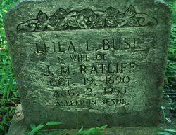 Leila L Ratliff (Buse) (1890 - 1953) - Genealogy