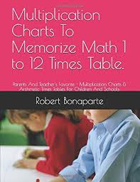 Times Table Chart Amazon Multiplication Charts To Memorize Math 1 To 12 Times Table Parents And Teachers Favorite Multiplication Charts Arithmetic Times Tables For