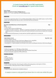 Mba Resume Format Resume Template Ideas