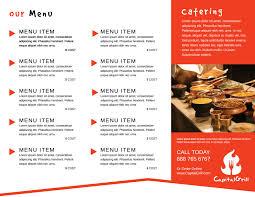 Restaurant To Go Menu Tri Fold Brochure Template