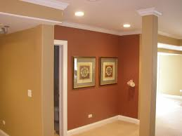elegant wall decoration with best interior paint in brown also maroon color design