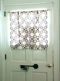 front door side window curtains treatments for doors with half glass entry sidelight shutters