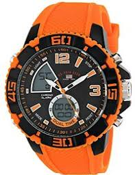 amazon com orange wrist watches watches clothing shoes u s polo assn sport men s us9483 sport watch orange silicone band