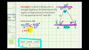 example application problem solved using the law of sines example application problem solved using the law of sines