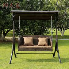 get quotations savage valley double balcony patio outdoor wicker chair swing hanging chair swing swing chair hanging chair