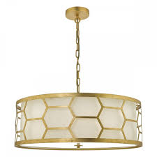the lighting book epstein 4lt gold ceiling pendant with ivory inner shade