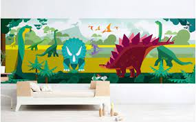 panoramic wall mural for boy room