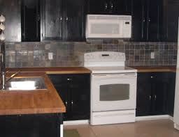 Black Kitchen Cabinets Black Kitchen Cabinets With Butcher Block Countertops Design Porter