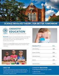 Chemistry Tutoring Flyer Design Template In Word, Psd, Publisher