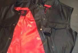 sons of anarchy samcro outlaw soa mens leather club biker vest side rockers vests for