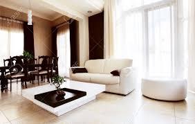 Luxury Apartment With Stylish Modern Interior Design Stock Photo - Luxury apartments interior