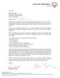 Appreciation Letter Appreciation Letter From Special Olympics Texas White Construction 17