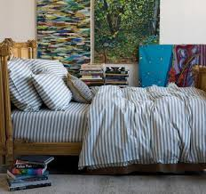 dwellstudio modern duvet covers chic bed linens bedding sets dr stripe chinois blue duvet set