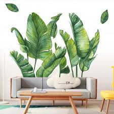 tropical plant wall stickers large big