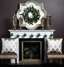 Amazing christmas fireplace mantel decoration ideas Shelf View In Gallery Pairing Peacock Wreaths And Turquoise Ornaments Create Inimitable Christmas Mantel Aboutruth 50 Christmas Mantle Decoration Ideas