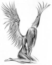 татуировка с изображением ангела хранителя крыльев ангела виды
