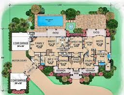 Mediterranean Mansion Floor Plans  Home Design By JohnLuxury Floor Plans