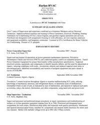 hvac technician sample resume httpexampleresumecvorghvac technician hvac technician sample resume