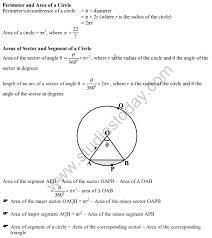cbse class 10 areas to circles