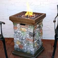 target outdoor gas fire column backyard rock design propane pit inch bowl tabletop