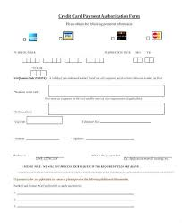 Credit Card Authorization Form Template Word Or Authorization Form