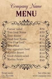 Fancy Restaurant Menu Label Set For Restaurant Menu Design Fancy Template Free