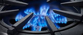 gas stove flame. Open Burners Have An Flame Coming Up Directly From The Center Of Burner Which Creates More Direct Heating To Pan. Since Components Gas Stove