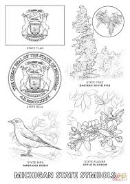 Small Picture Michigan State Symbols coloring page Free Printable Coloring Pages