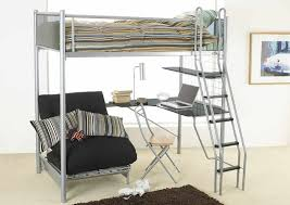 metal bunk bed with desk. Perfect Bunk Metal Futon Bunk Bed With Desk U2013 Workspace Table For