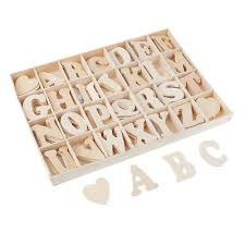 112pcs adhesive natural wooden letter alphabet embellishments for kids craft