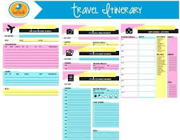Trip Planner Excel Trip Planner Excel Spreadsheet Help Organize Vacations In One Page