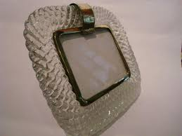 a beautiful venetian picture frame made of clear