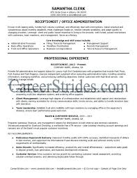 Receptionist Resume Templates Resume Template Easy Http Www