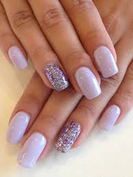 Pink Purple And Silver Nail Designs Can Do It At Home Pictures Pink Nails Chrome With Rhinestone