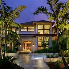tropical outdoor lighting. tropical farm house exterior with jenny provost outdoor lighting