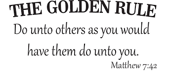 Golden Rule Quotes Beauteous The Golden Rule Wall Decal Matthew 4848 Religious Inspirational