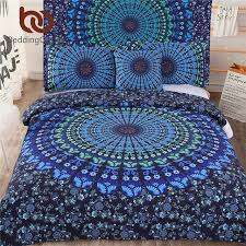 BeddingOutlet 5pcs Bed in a Bag Bedding Set Twin Full Queen King ... & BeddingOutlet 5pcs Bed in a Bag Bedding Set Twin Full Queen King Blue Mandala  Quilt Cover Adamdwight.com