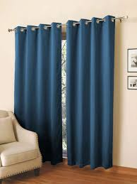 rosara home set of 2 blue black out long door curtains